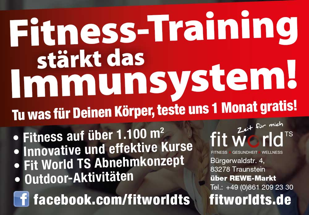 Fit World TS - Ihr Premium Fitnesstudio in Traunstein
